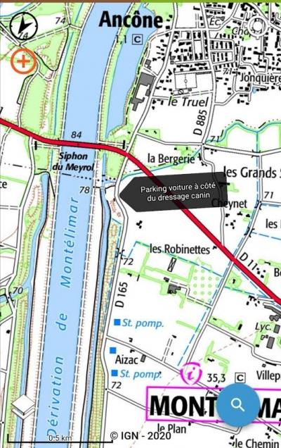 MN Mardi 20/10 18h Canal du Rhône Ancone Montélimar